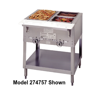"Duke Aerohot Steamtable Unit 22.44""D x 44.38""W x 34""H Stainless Steel With Carving Board"