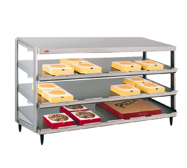 "Hatco Glo-Ray® Pass-Thru Countertop 48"" x 24"" Pizza Warmer Triple Slant Shelf Stainless Steel & Aluminum Construction"