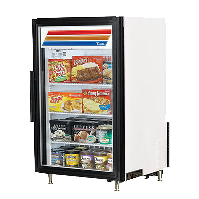 "superior-equipment-supply - True Food Service Equipment - True One Section One Glass Door 24"" Wide Reach-In Countertop Freezer Merchandiser"