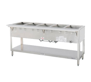 "Duke Aerohot Steamtable Wet Bath Holds (5) Pans 72.38""W x 22.44""D x 34""H Stainless Steel With Carving Board"