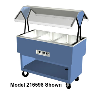 "Duke EconoMate™ Portable Hot Food Buffet 58.38""W x 33.38""H x 22.5""D Stainless Steel Acrylic Plastic With 5""Casters"