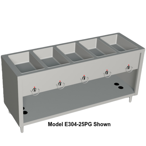 "Duke AeroServ™ Hot Food Gas Unit 74""W x 24.5""D x 36""H Stainless Steel With Adjustable Feet"