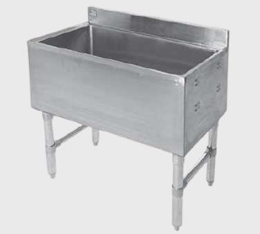 "Klinger's Stainless Steel Underbar Ice Chest w/ Cold Plate 24"" Wide"