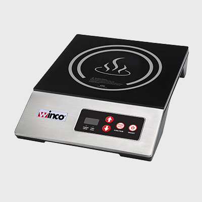 Winco Commercial Induction Cooker Electric Ceramic Glass Surface & Plastic/Stainless Steel