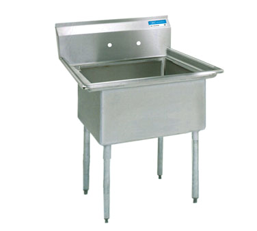 "superior-equipment-supply - BK Resources - BK Resources Sink One Compartment 23""W x 23-13/16""D x 43-3/4""H, Stainless Steel"