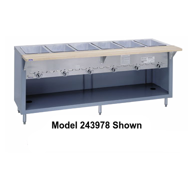"Duke Thurmaduke™ Steamtable Gas Unit 32""W x 36""H x 25.5""D Stainless Steel With Adjusable Feet"
