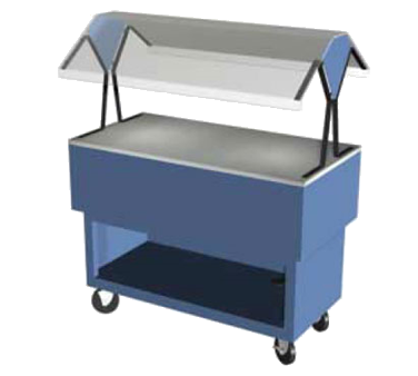 "Duke Portable Buffet 44-3/8""W x 36.5""L x 33.38""H Blue Stainless Steel Acrylic Plastic With 5"" Casters"