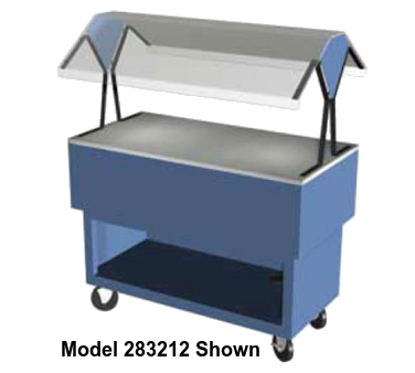 "Duke Portable Buffet 58-3/8""W x 36.5""L x 33.38""H Stainless Steel Acrylic Plastic With 5"" Casters"