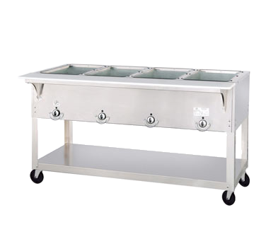 "Duke Aerohot Portable Steamtable Unit 58.38""W x 22.44""D x 34""H Stainless Steel With Carving Board"