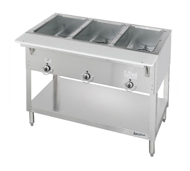 superior-equipment-supply - Duke Manufacturing - Duke Stainless Steel Electric Three Well Hot Food Station