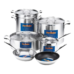 "Browne Foodservice Thermalloy Stainless Steel Lid 10-1/4"" Diameter"