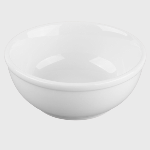 World Tableware Porcelana™ Rolled Edge Oatmeal Bowl Bright White Porcelain 10 oz. - 36/Case