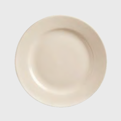 "World Tableware Plate Medium Rim Princess Cream White Stoneware 9"" - 24/Case"