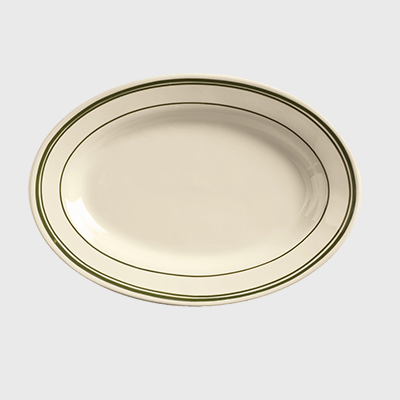 "World Tableware Viceroy Oval Platter Cream White Stoneware 12-1/2"" x 8-3/4"" - 12/Case"