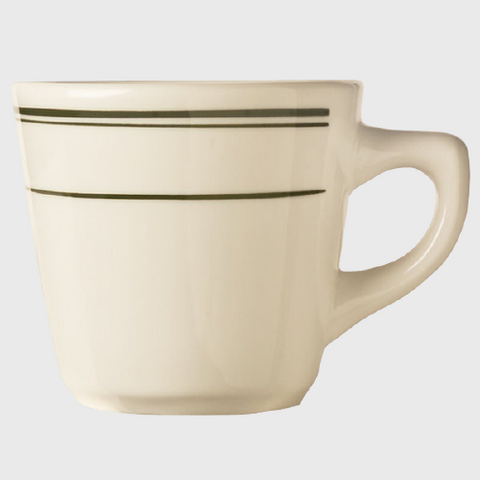 World Tableware Viceroy Tall Cup Cream White Stoneware 7 oz.