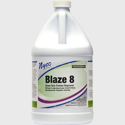 Nyco Products Blaze 8 Heavy Duty Cleaner Degreaser - 4 Gallons/Case