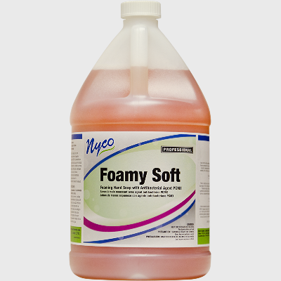 Nyco Products Foamy Soft Hand Soap w/ Antibacterial Agent PCMX - 4 Gallons/Case