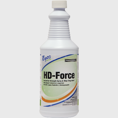Nyco Products HD Force Industrial Strength Spray & Wipe Degreaser - 12 Quarts/Case