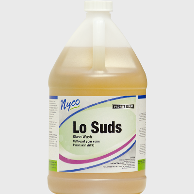 Nyco Products Lo Suds Bar Glass Wash Detergent - 4/Case