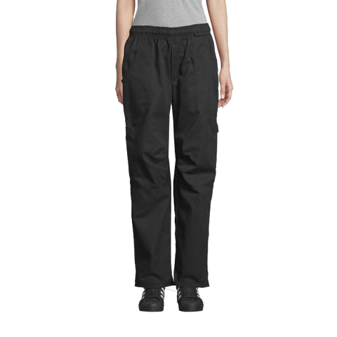 Uncommon Threads Chef Pants Large Black Unisex 65/35 Poly/Cotton Twill