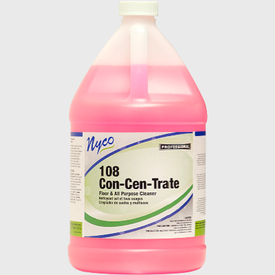 Nyco Products 108 Con-Cen-Trate Floor & All Purpose Cleaner - 4 Gallons/Case