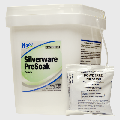 Nyco Products Silverware PreSoak Packets - 35/Case