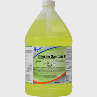 Nyco Products Chlorine Sanitizer II Sodium Hypochlorite Solution - 4 Gallons/Case