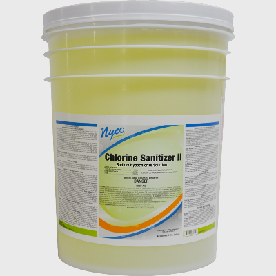 Nyco Products Chlorine Sanitizer II Sodium Hypochlorite Solution - 5 Gallon Pail
