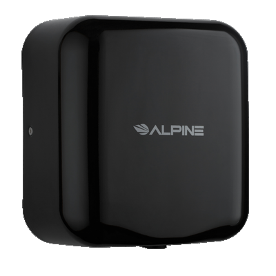 Alpine Industries Hemlock Hand Dryer 304 Stainless Steel Cover With Black Finish