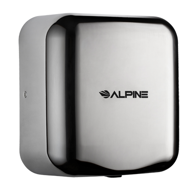 Alpine Industries Stainless Steel Hemlock Hand Dryer Chrome Finish