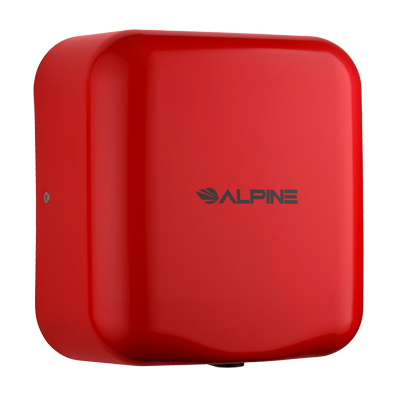Alpine Industries Stainless Steel Hemlock Hand Dryer Red Finish