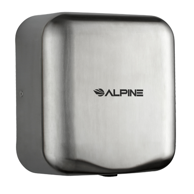 Alpine Industries Stainless Steel Hand Dryer Brushed Finish