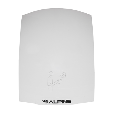 Alpine Industries Hazel Hand Dryer White Finish