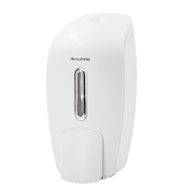 Alpine Industries Soap Dispenser White Soap & Hand Sanitizer Dispenser Surface Mount Manual 27 oz. Capacity