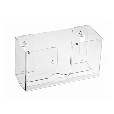 "Alpine Industries Towel Dispenser Clear 10-1/5""W x 4-1/5""D x 6-4/5""H Wall-Mounted Holds (150) Multi-Fold Paper Towels"