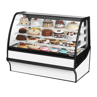 "superior-equipment-supply - True Food Service Equipment - True White Powder Coated 59""W Refrigerated Display Merchandiser With PVC Coated Wire Shelving"