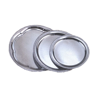 "American Metalcraft Inc. Affordable Elegance Serving Tray 12"" Diameter Chrome Plates Mirror Finish"