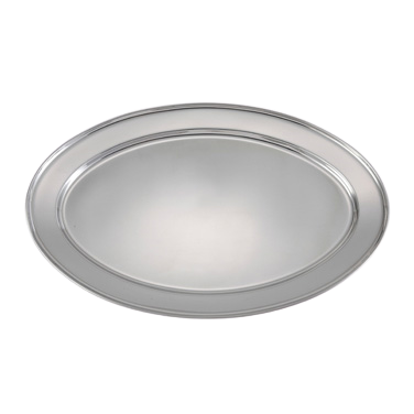 "Platter Oval 18/8 Heavy Stainless Steel 21-3/4""L x 14-1/2""W"