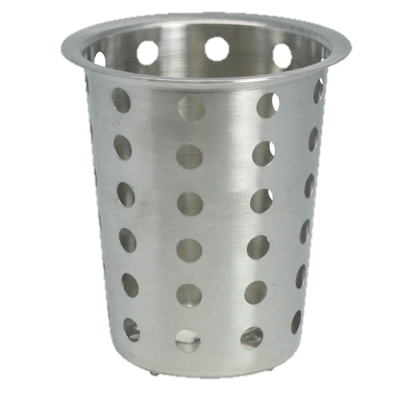 "Flatware Cylinder Perforated Stainless Steel 4"" dia."