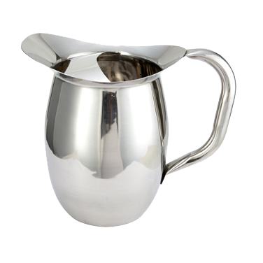 Bell Pitcher with Ice Guard Heavy Weight Stainless Steel Mirror Finish 3 qt.