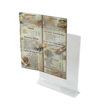 "Winco Acrylic Card Holder 8"" x 11"""