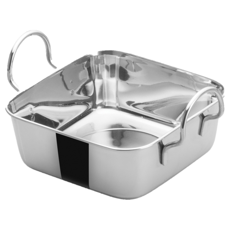 superior-equipment-supply - Winco - Mini Roasting Pan Stainless Steel 4.5""