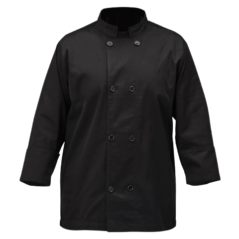 Mulholland Chef Jacket Black Small 65/35 Poly-Cotton Blend