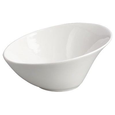 "Bowl 1 qt. Creamy White Porcelain 8-1/4"" Diameter - 12 Bowls/Pack"
