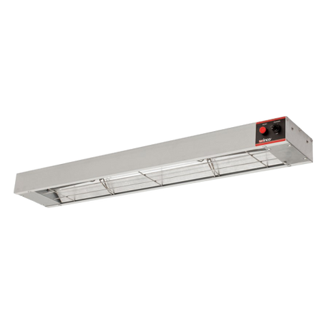 "Winco Aluminum Exterior Electric 36"" Strip Type Heat Lamp"