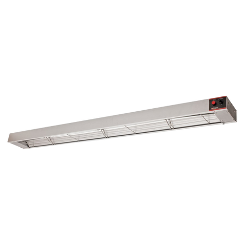 "Winco Electric Aluminum Exterior 60"" Strip Type Heat Lamp"