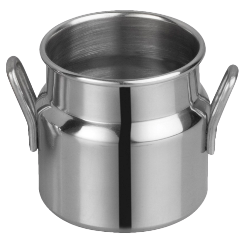 "Mini Milk Can with Handles 3 oz. Stainless Steel 2"" Diameter x 2"" Height"