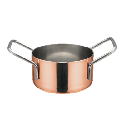 "superior-equipment-supply - Winco - Mini Casserole Copper Plated  3-1/8"" dia."