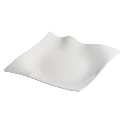 "Plate Bright White Porcelain 10"" - 12 Plates/Case"