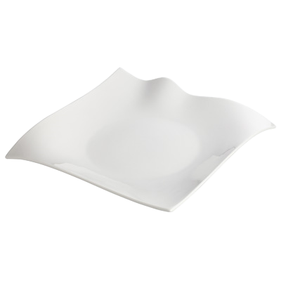 "Plate Bright White Porcelain 12"" - 6 Plates/Case"